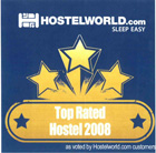 Top rated hostel 2008 @ hostelworld.com